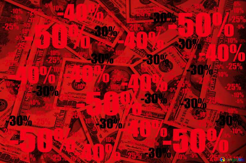 Dollars red background Sale offer discount template №1507