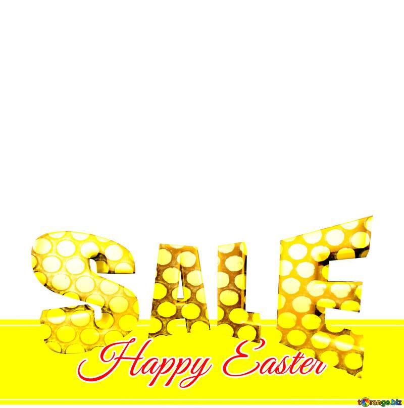 Sales promotion 3d Gold letters sale background Happy Easter Design Banner Template №49668