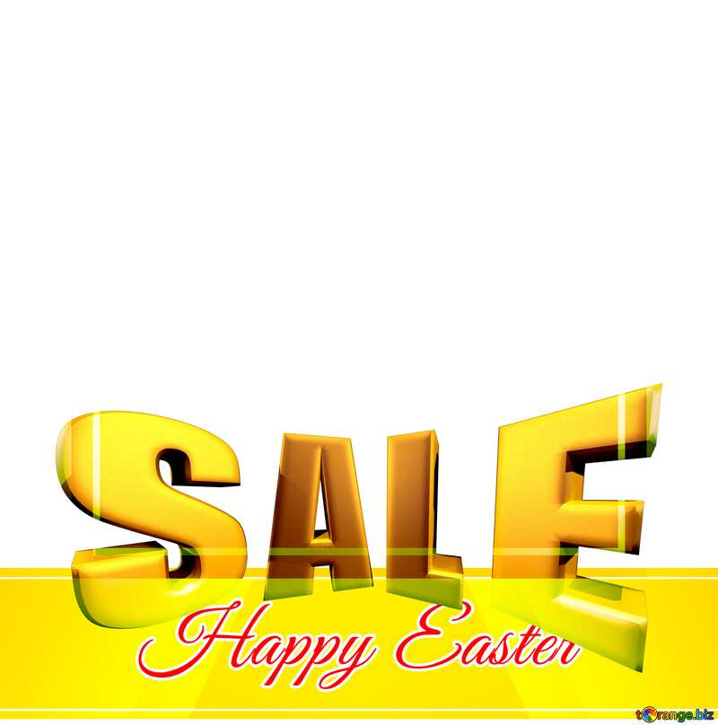 Sales promotion 3d Gold letters sale background Happy Easter Design Responsive Template №49668