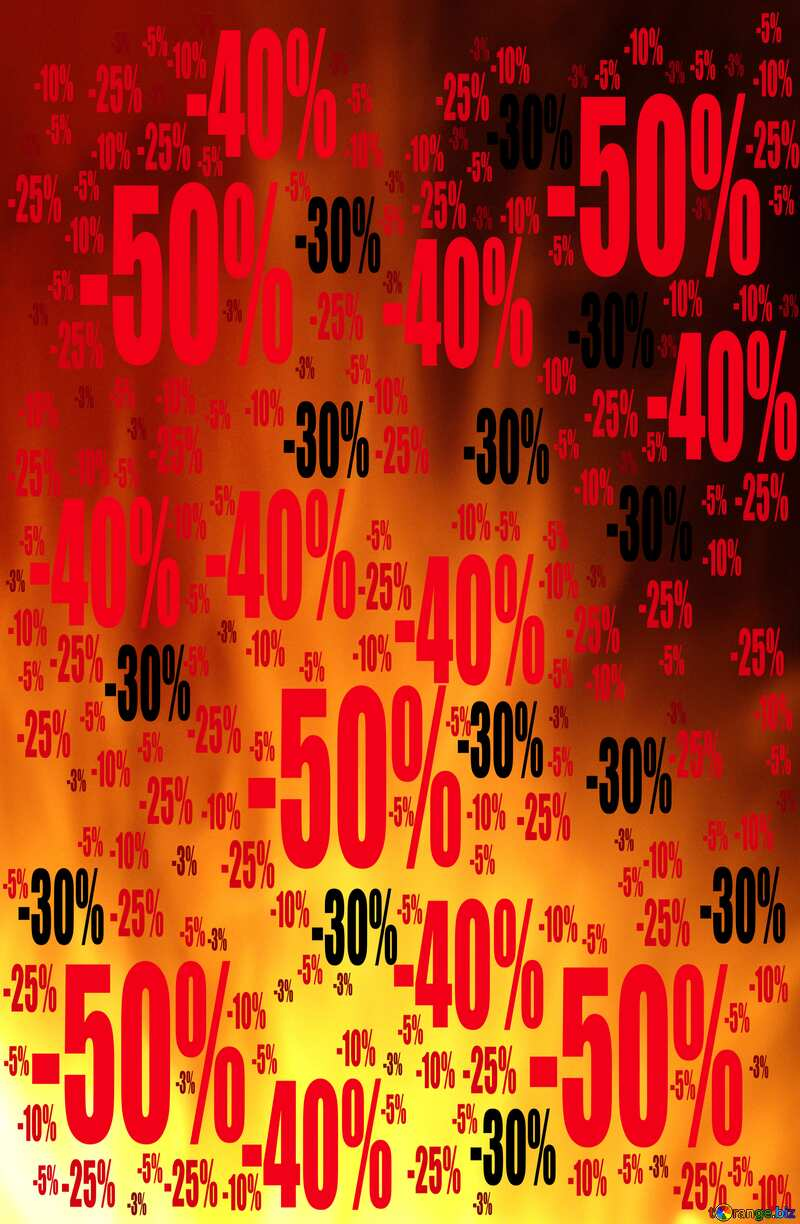Sale offer discount template Background Fire Sales №9546