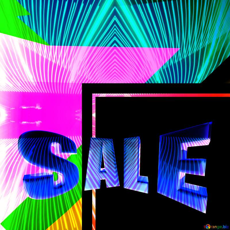 Sales promotion 3d Gold letters sale background Art Frame Geometric Pattern Template №49675