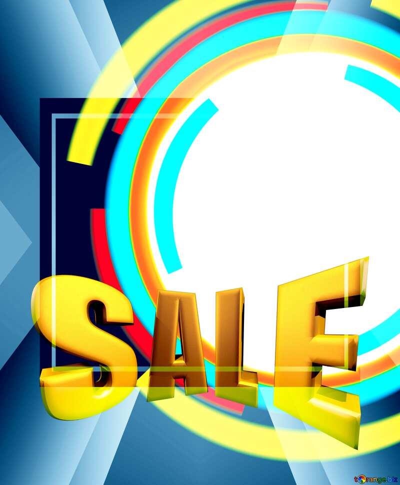 Sales promotion 3d Gold letters sale background Frame Business Banner Design №49680