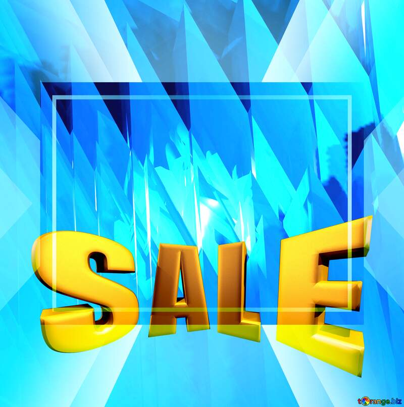 Sales promotion 3d Gold letters sale background Futuristic Business Frame Computer Generated Design Template №51524