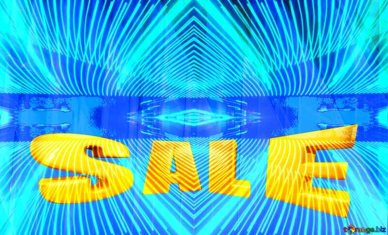 Sales promotion 3d Gold letters sale Curves Futuristic Geometric Lines Pattern №51526