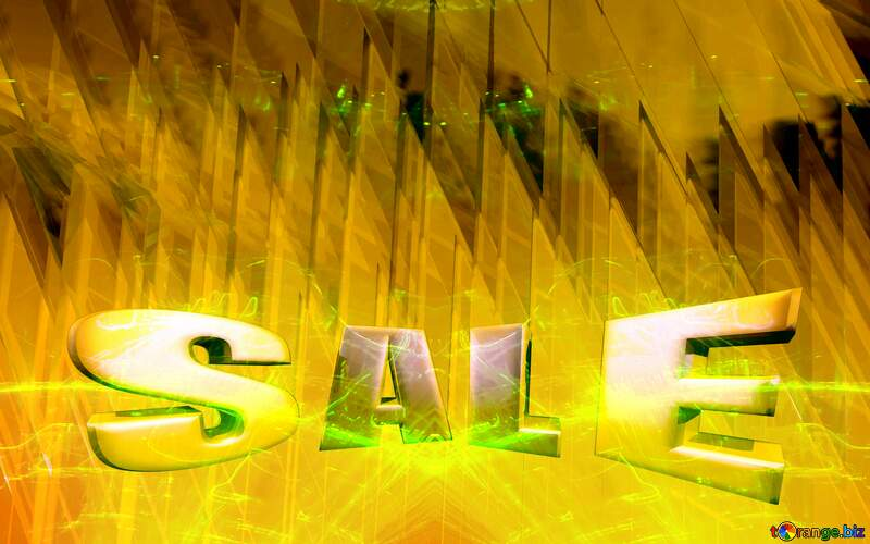 Sales promotion 3d Gold letters sale background Technology Futuristic Geometric Background Yellow №51526