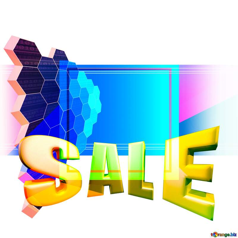 Sales promotion 3d Gold letters sale background Geometric It Technology Template №49674