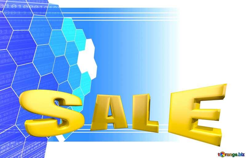 Tech business information concept template Sales promotion 3d Gold letters sale background №49674