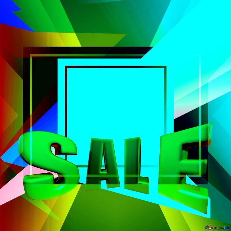 Colorful illustration template frame design Sales promotion 3d Gold letters sale background №49675