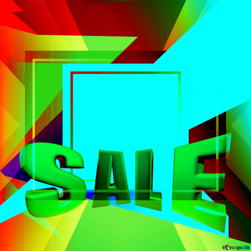 Colorful illustration template frame powerpoint Sales promotion 3d Gold letters sale background №49675