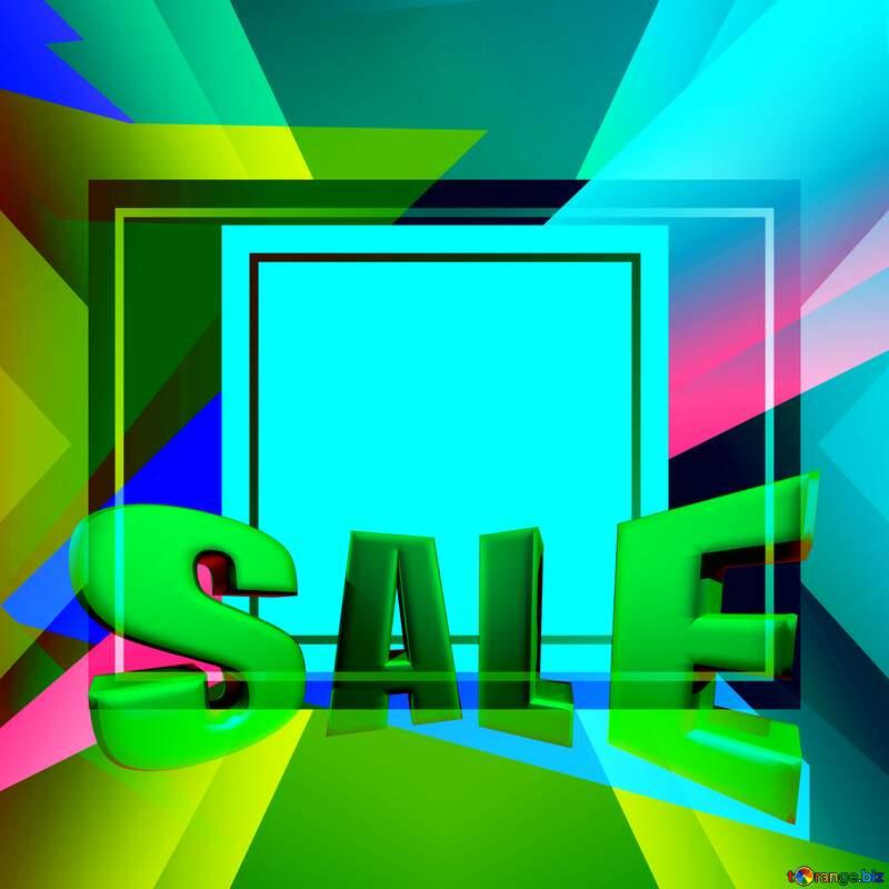 Colorful illustration template frame responsive Sales promotion 3d Gold letters sale background №49675