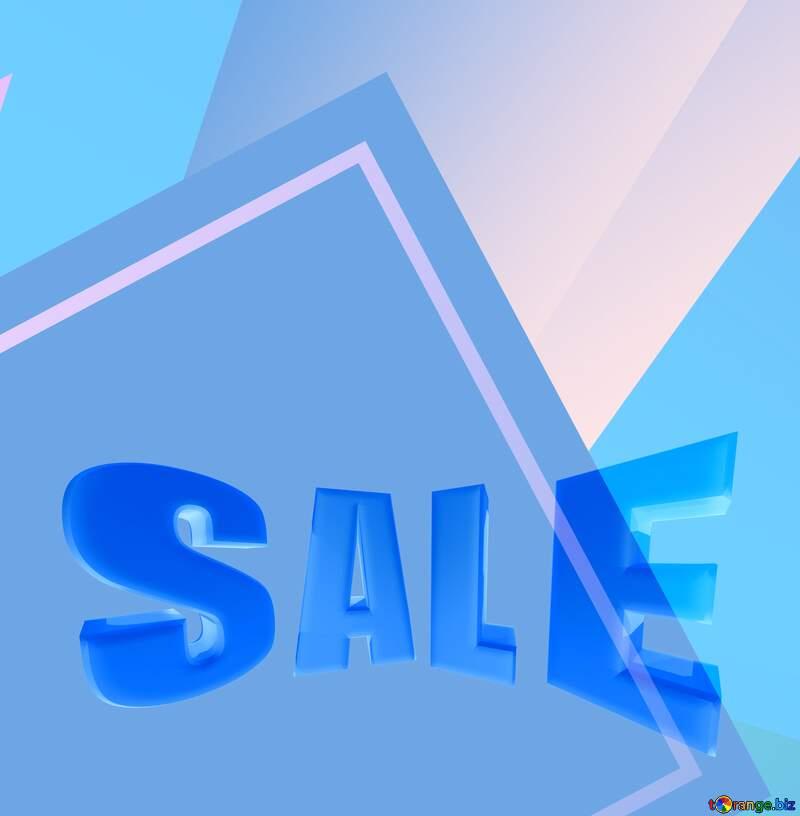 Colorful blue light illustration template frame Sales promotion 3d Gold letters sale background №49675