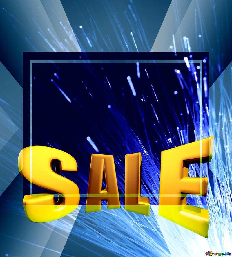 Transmission of data over an optical fiber Sales promotion 3d Gold letters sale background Template №41328