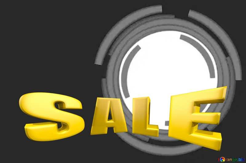 Infographics circle frame Sales promotion 3d Gold letters sale background №49680