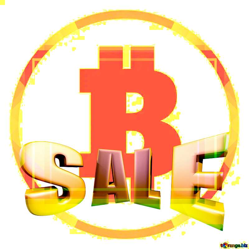 Bitcoin frame template Sales promotion 3d Gold letters sale background №49602