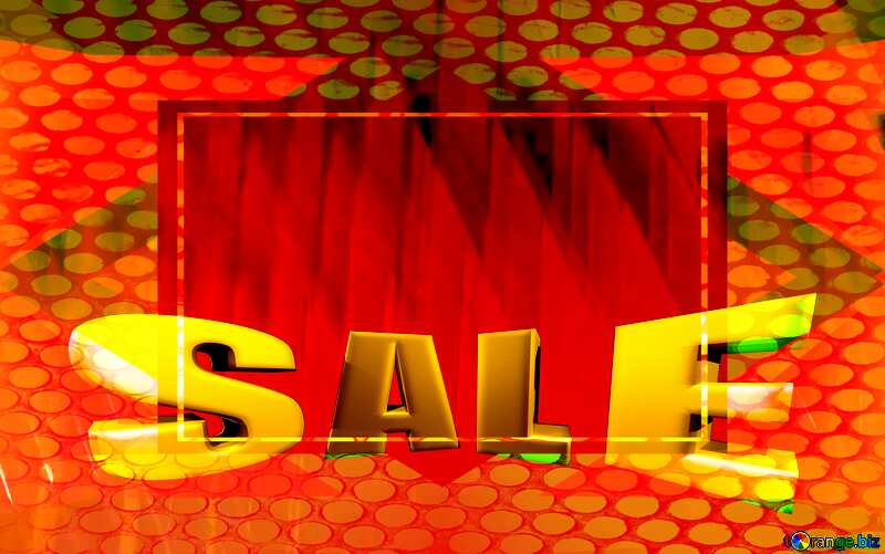 Sales promotion 3d Gold letters sale Geometric Grill Hole Frame Futuristic №51526