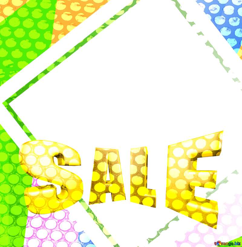 Sales promotion 3d Gold letters sale background Grill Hole Frame Template №49675