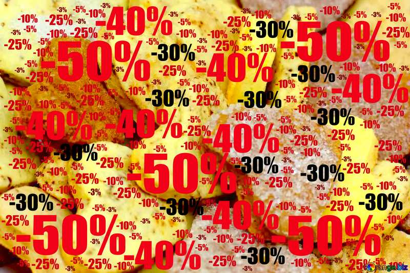 Sale offer discount template Cookies Heart Background №16650