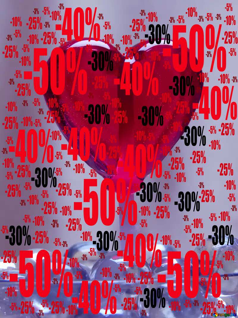 Love candy Sale offer discount template heart Blue Background №17436