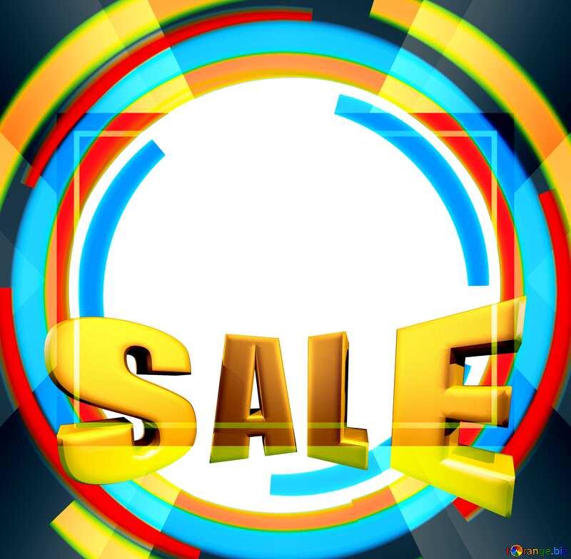 Sales promotion 3d Gold letters sale label background Template №49680