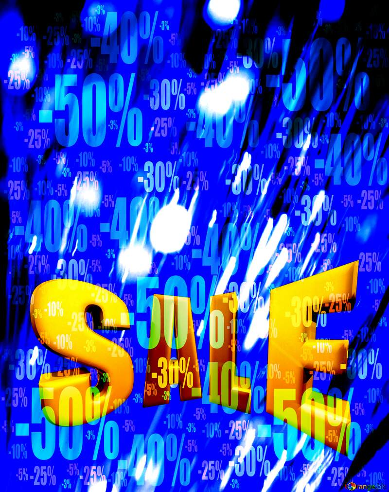 Optical fiber Sales promotion 3d Gold letters sale background Discount №41330