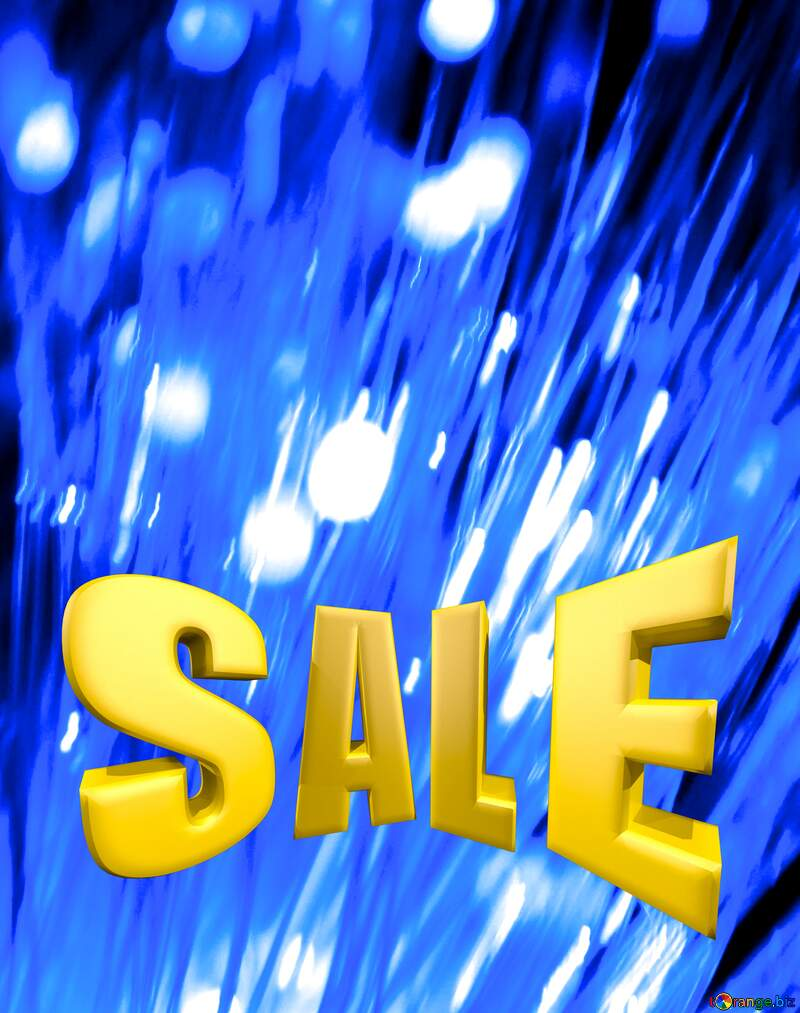 Optical fiber Sales promotion 3d Gold letters sale background №41330