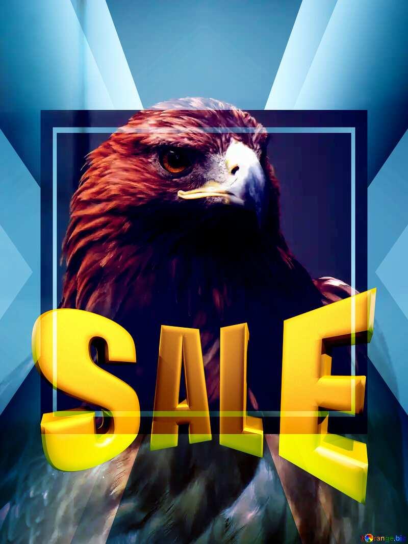 Golden eagle Sales promotion 3d Gold letters sale background Template №45229