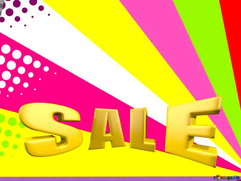 Colors rays Sales promotion 3d Gold letters sale background Template №49661