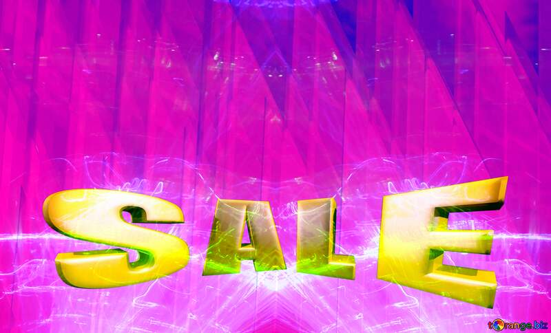 Sales promotion 3d Gold letters sale background Pink Lights Geometric Shape Template №51526