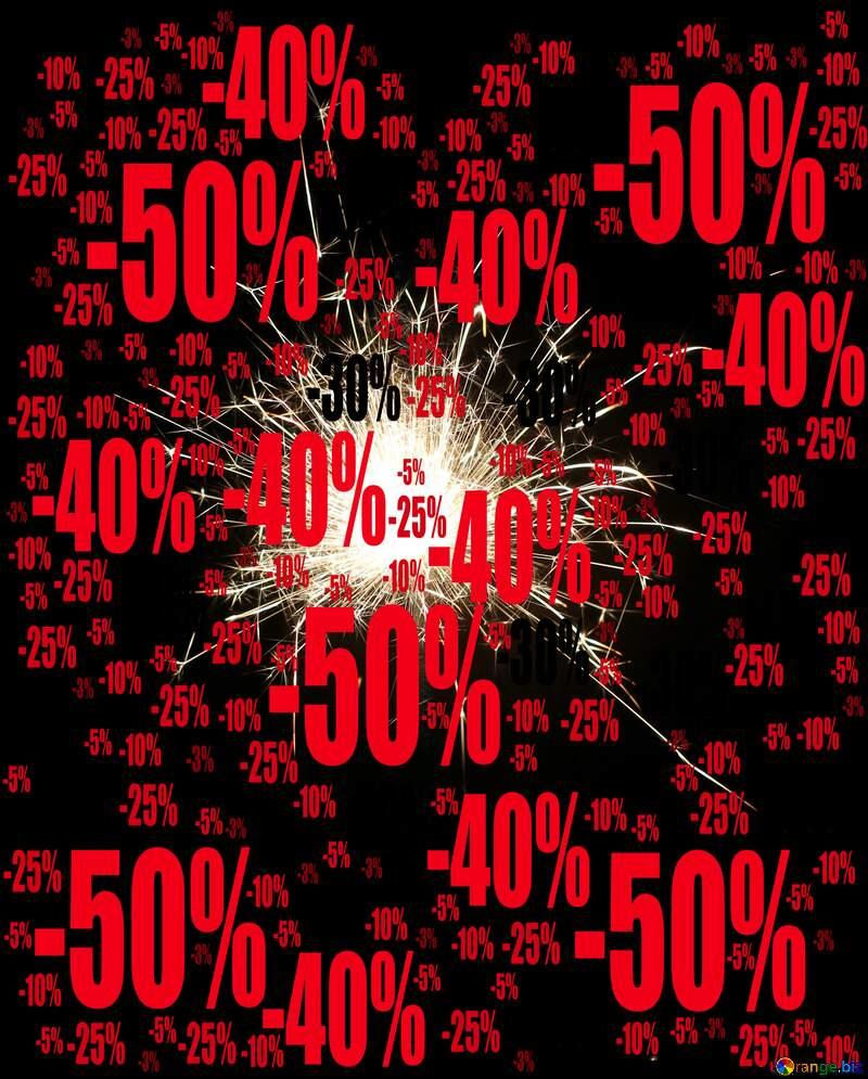 Sparkler on black background Sale offer discount template №25700