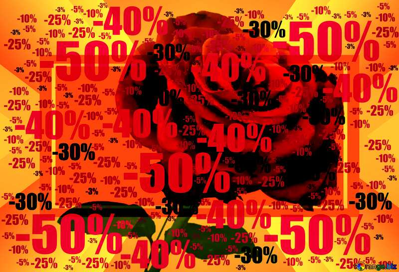Rose background Infographic Template Sale offer discount template №17091