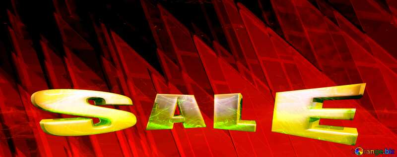 Sales promotion 3d Gold letters sale background Dark Red Technology Shape Geometric №51526