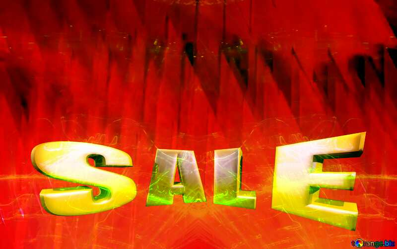 Sales promotion 3d Gold letters sale Digital Futuristic Red Promotion Template Background №51526