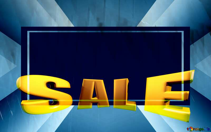 Sales promotion 3d Gold letters sale background Rendering retro style Banner Template №51526