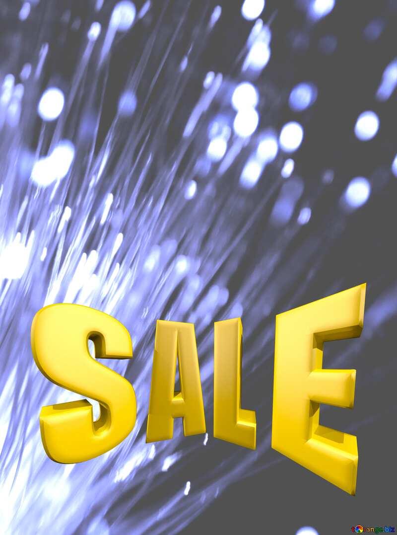 Optical fiber Sales promotion 3d Gold letters sale background Lights Template №41330