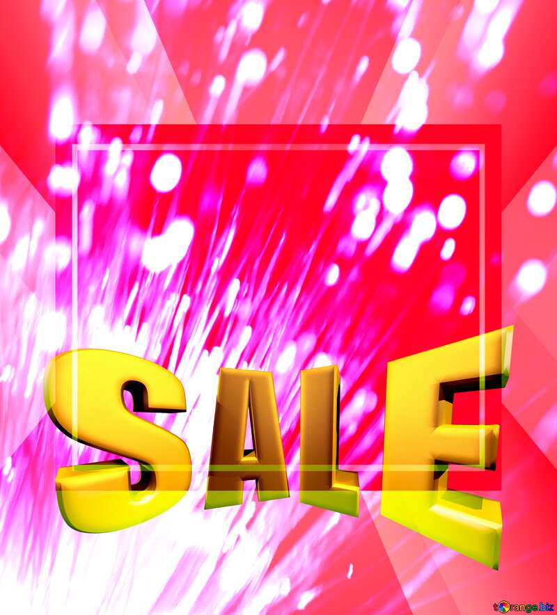Optical fiber Sales promotion 3d Gold letters sale background Red Template №41330