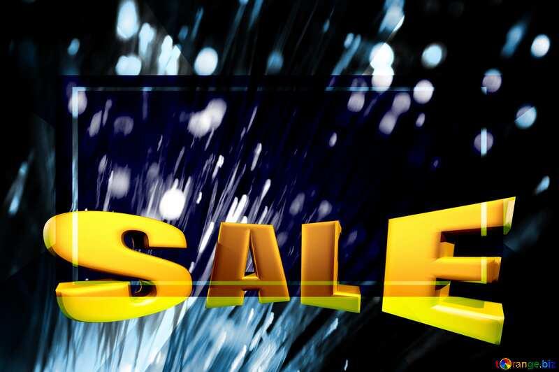 Optical fiber Sales promotion 3d Gold letters sale background Template Dark №41330