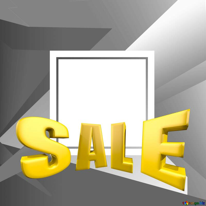 Gray Sales promotion 3d Gold letters sale background Template №49675