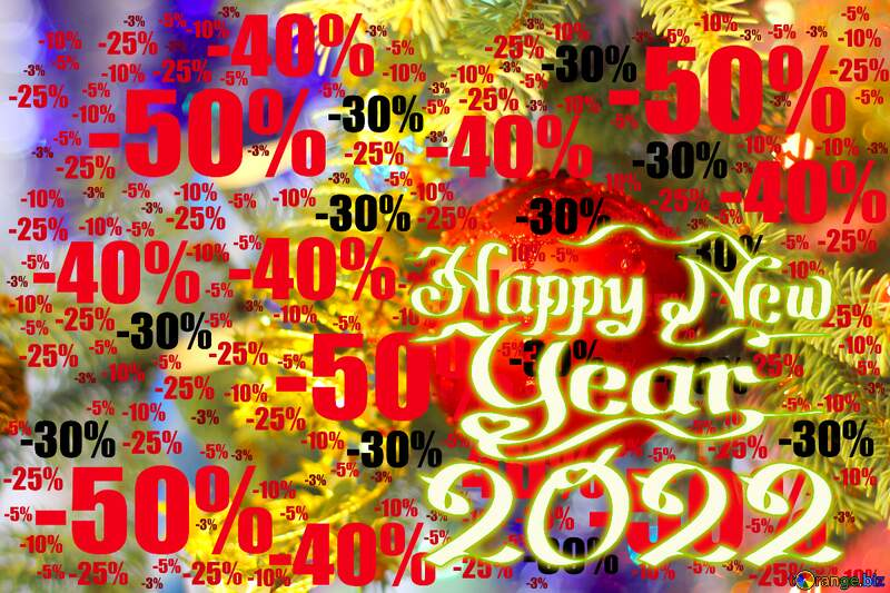 Background for happy new year 2021 Sale offer discount template №18355