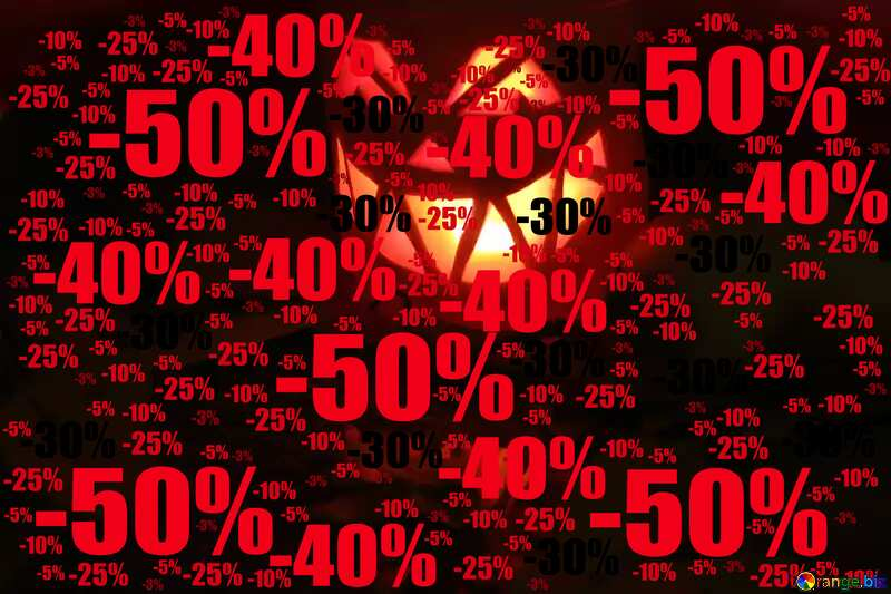 Sale offer discount template Halloween Sales Backdrop №24263