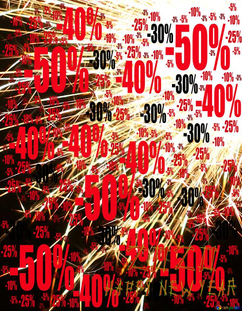 Sale offer discount template Sparks Background №25625
