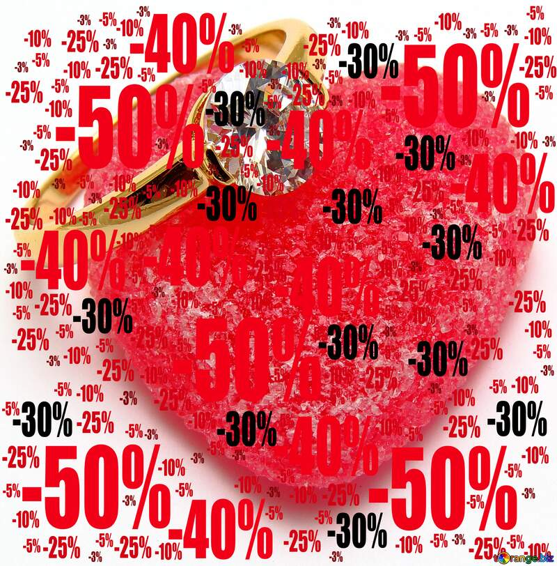 Love Sale offer discount template Background №18534