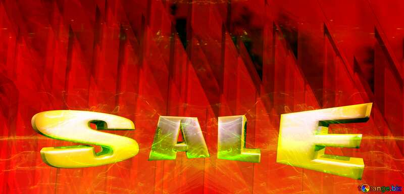 Sales promotion 3d Gold letters sale background Lights template Love Heart Futuristic №51526
