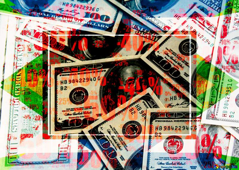 Dollars geometric colorful template background Sale offer discount template №1507