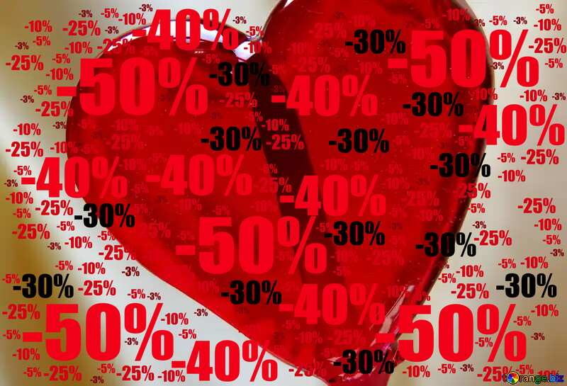 Sweet gift Sale offer discount template Valentine`s Day Background №17468