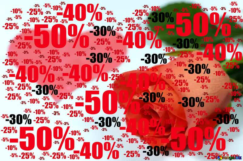 Sale offer discount template Background Valentines Day №7273