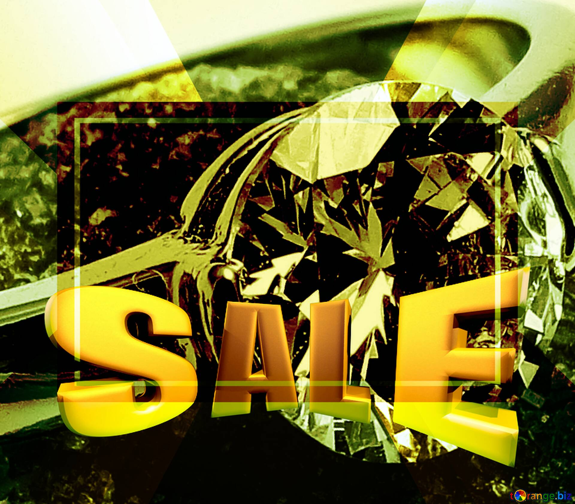 Download free picture Ring Sales promotion 3d Gold letters ...
