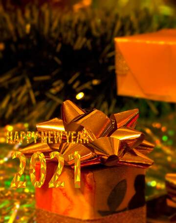 The effect of light. Vivid Colors. Blur frame. Fragment. Happy New Year 2020.