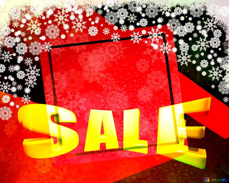 Christmas abstract geometrical future trend template frame Sales promotion 3d Gold letters sale background №40659