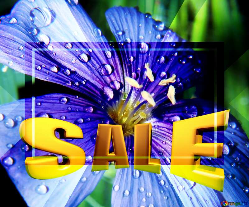 Sales promotion 3d Gold letters sale background Beautiful Flower Template №33411