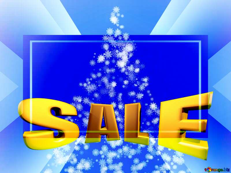 Sales promotion 3d Gold letters sale background Christmas Template №40661